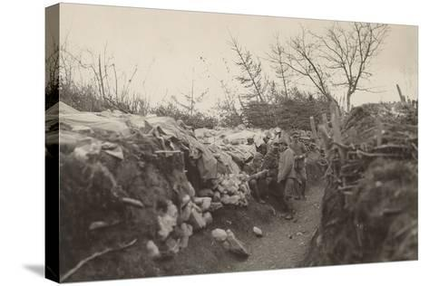 World War I: Trenches of the First Line in the Area of Tolmin--Stretched Canvas Print