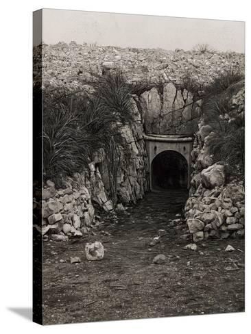 Tunnel at Monte San Michele--Stretched Canvas Print