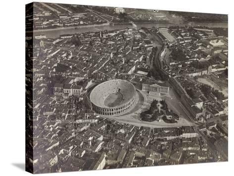 First World War: View of Verona with the Arena and the River Adige, Taken from a Blimp--Stretched Canvas Print