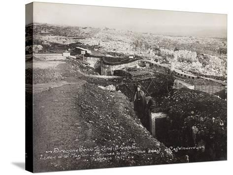 Leadership Corps of Engineers 2nd Area 3rd Army, Trench--Stretched Canvas Print