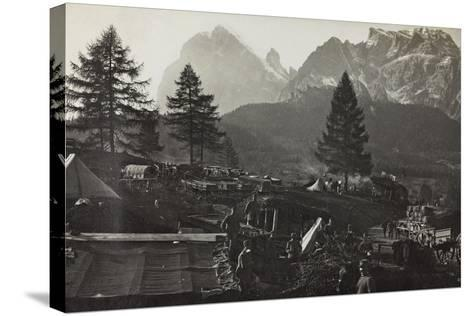 Military Camp at the Slopes of Mount Antelio--Stretched Canvas Print