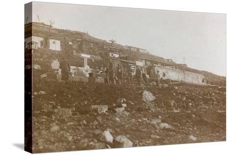 World War I: Tanks of Water in a Military Garrison in the High Mountains--Stretched Canvas Print