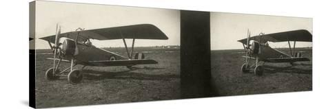 Italian Army Seaplane During the First World War, Newport--Stretched Canvas Print