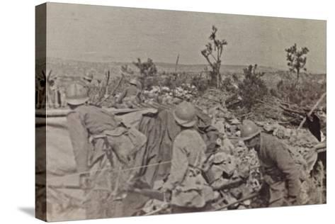 Campagna Di Guerra 1915-1916-1917-1918: Soldiers in the Trenches on Monte Cosich--Stretched Canvas Print