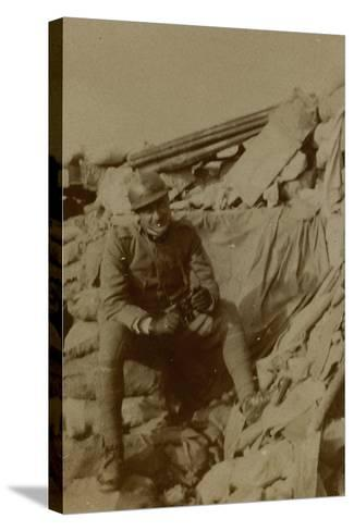 War Campaign 1917-1920: Captain Lecconi at Altitude Mountain 11, Recently Won--Stretched Canvas Print
