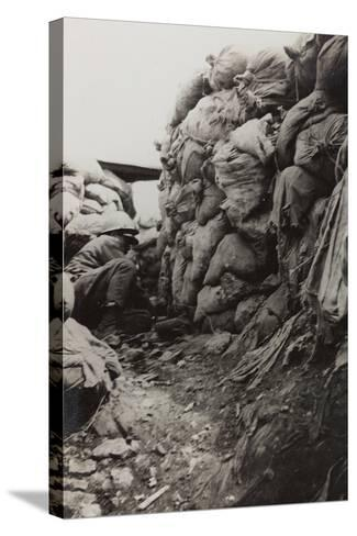 First World War: Soldier in the Trenches--Stretched Canvas Print