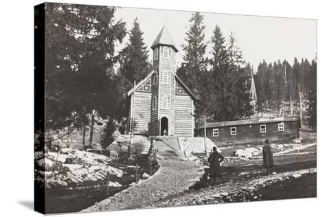 World War I: Church of a Austrian Small Hospital in the Rosato Field--Stretched Canvas Print