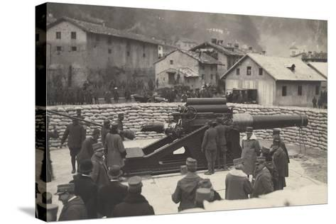 World War I: French Mission of the Minister Aristide Briand (1862-1932) on a Visit to the Front--Stretched Canvas Print