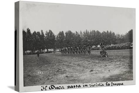 World War I: The Duke Mustering the Troops--Stretched Canvas Print