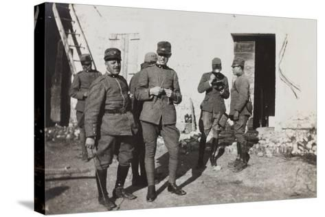 War Campaign 1917-1920: Group of Officers, Cavrie--Stretched Canvas Print