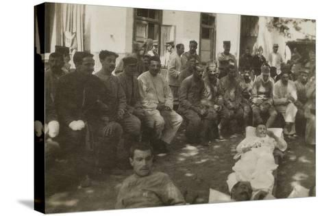 Group of Wounded Soldiers in a Military Hospital During the First World War--Stretched Canvas Print