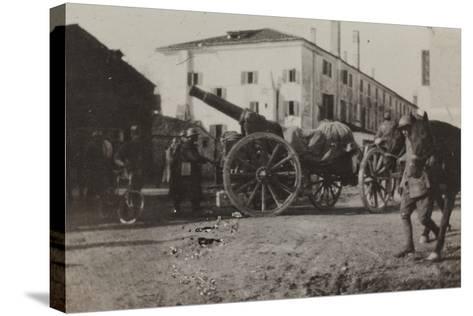 War Campaign 1917-1920: Cannon in a Square in Gorizia--Stretched Canvas Print