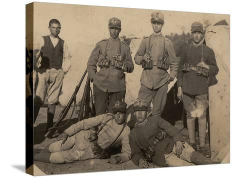 Soldiers of the 26th Infantry Regiment in Uniform War--Stretched Canvas Print