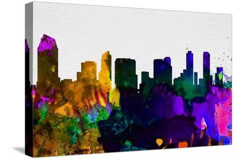 San Diego City Skyline-NaxArt-Stretched Canvas Print