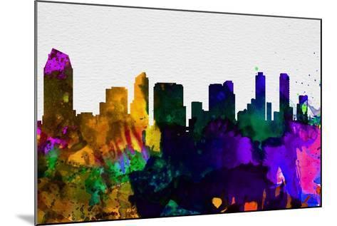 San Diego City Skyline-NaxArt-Mounted Art Print