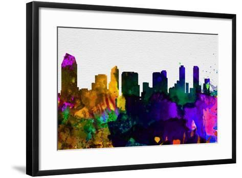 San Diego City Skyline-NaxArt-Framed Art Print