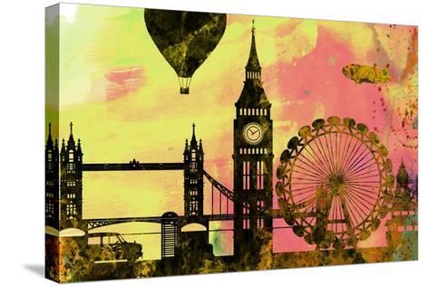 London City Skyline-NaxArt-Stretched Canvas Print