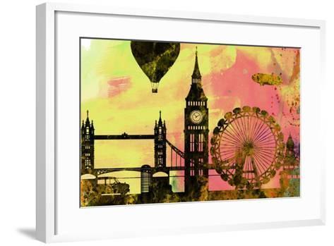 London City Skyline-NaxArt-Framed Art Print