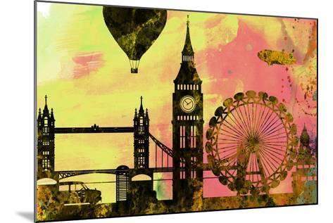 London City Skyline-NaxArt-Mounted Art Print