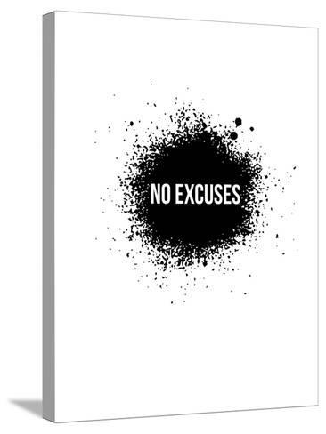 No Excuses White-NaxArt-Stretched Canvas Print