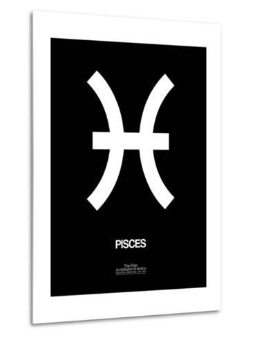 Pisces Zodiac Sign White-NaxArt-Metal Print