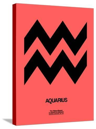 Aquarius Zodiac Sign Black-NaxArt-Stretched Canvas Print