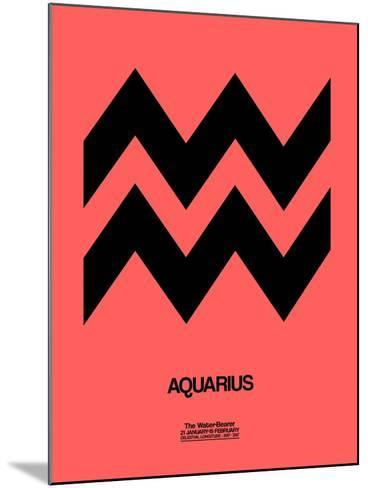 Aquarius Zodiac Sign Black-NaxArt-Mounted Art Print