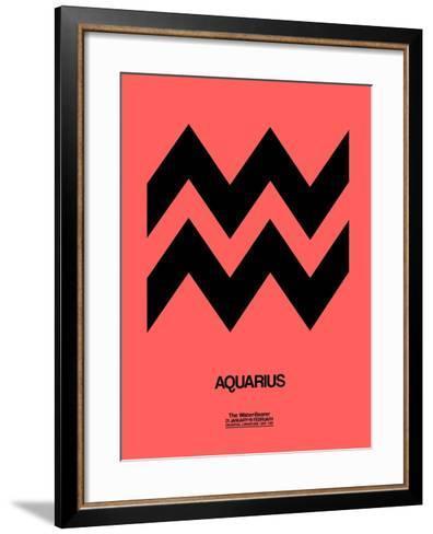 Aquarius Zodiac Sign Black-NaxArt-Framed Art Print