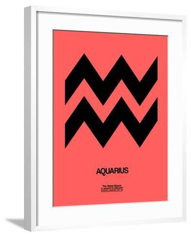 Aquarius Zodiac Sign Black-NaxArt-Framed Art Print