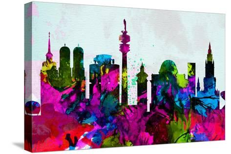 Munich City Skyline-NaxArt-Stretched Canvas Print