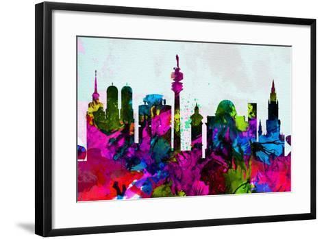 Munich City Skyline-NaxArt-Framed Art Print