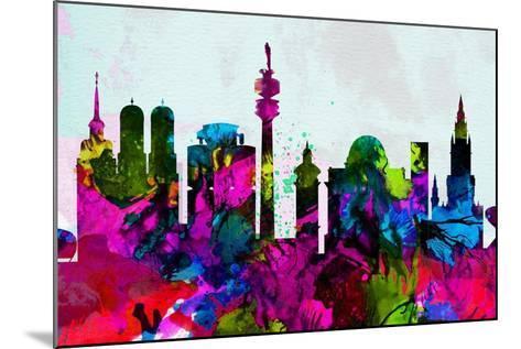 Munich City Skyline-NaxArt-Mounted Art Print