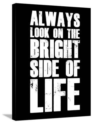 Bright Side of Life  Black-NaxArt-Stretched Canvas Print