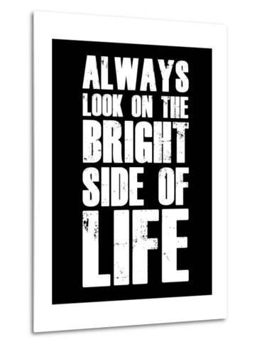Bright Side of Life  Black-NaxArt-Metal Print