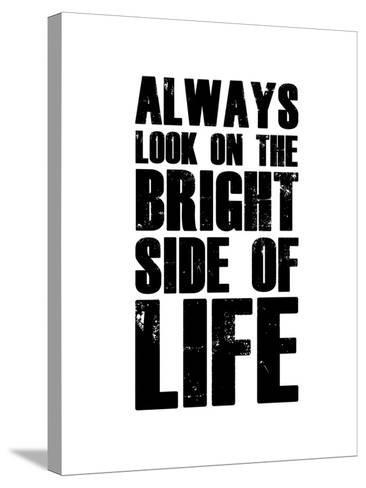 Bright Side of Life  White-NaxArt-Stretched Canvas Print