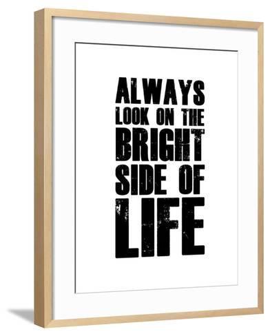Bright Side of Life  White-NaxArt-Framed Art Print