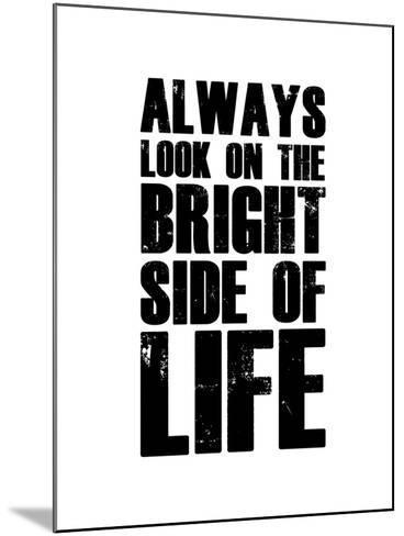 Bright Side of Life  White-NaxArt-Mounted Art Print