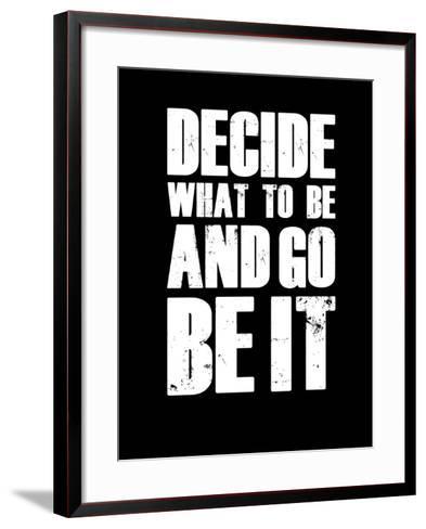 Be it Black-NaxArt-Framed Art Print