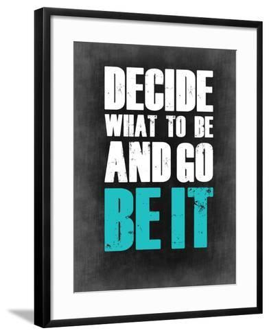 Be it Grey-NaxArt-Framed Art Print