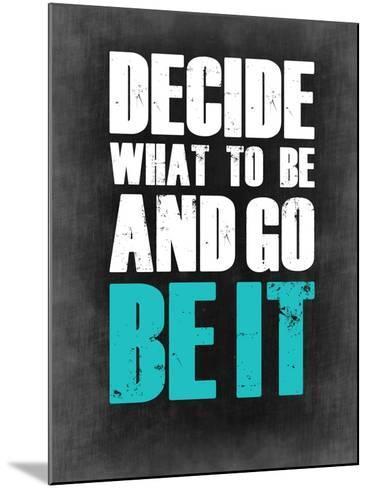 Be it Grey-NaxArt-Mounted Art Print