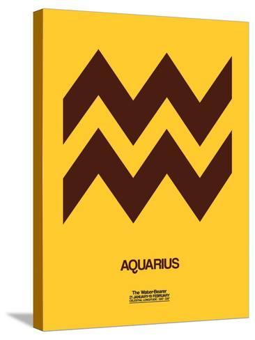 Aquarius Zodiac Sign Brown-NaxArt-Stretched Canvas Print