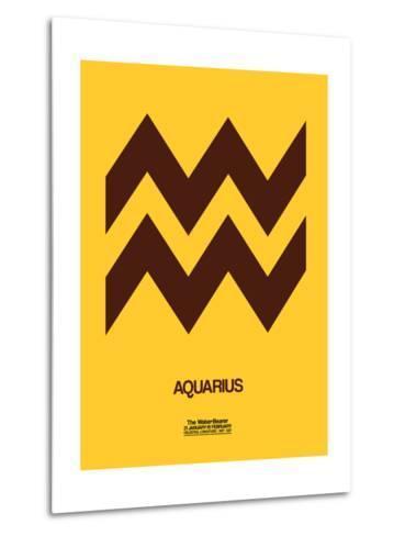 Aquarius Zodiac Sign Brown-NaxArt-Metal Print
