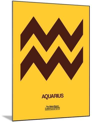 Aquarius Zodiac Sign Brown-NaxArt-Mounted Art Print