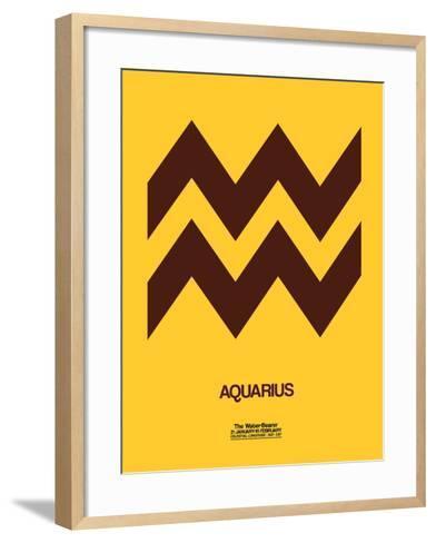 Aquarius Zodiac Sign Brown-NaxArt-Framed Art Print