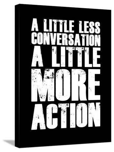 A Little More Action Black-NaxArt-Stretched Canvas Print