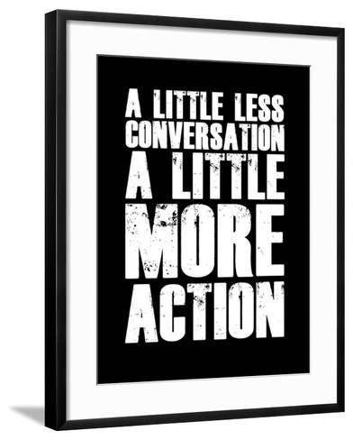 A Little More Action Black-NaxArt-Framed Art Print