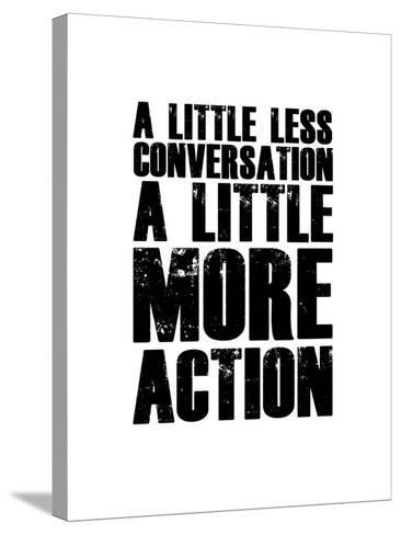 A Little More Action White-NaxArt-Stretched Canvas Print