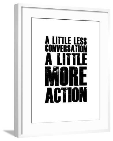 A Little More Action White-NaxArt-Framed Art Print