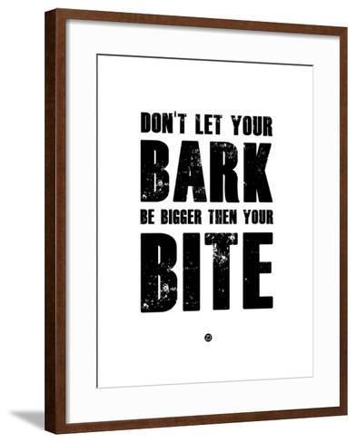 Bark and Bite White-NaxArt-Framed Art Print