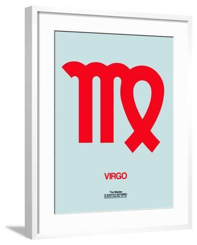 Virgo Zodiac Sign Red-NaxArt-Framed Art Print